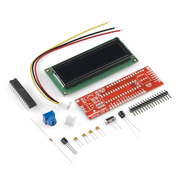 Serial Lcd Kit Quickstart Guide Sparkfun Electronics