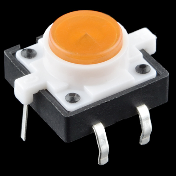 Orange LED button