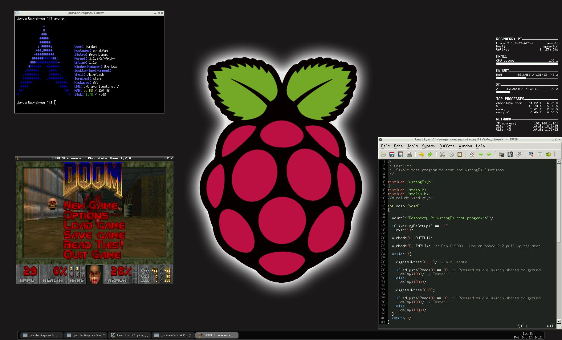 Arch linux arm raspberry pi root password