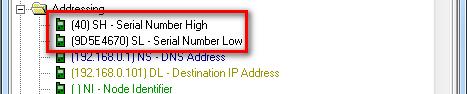 XBee MAC address