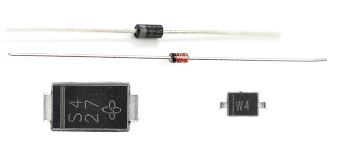 Some real diodes and their cathode markings