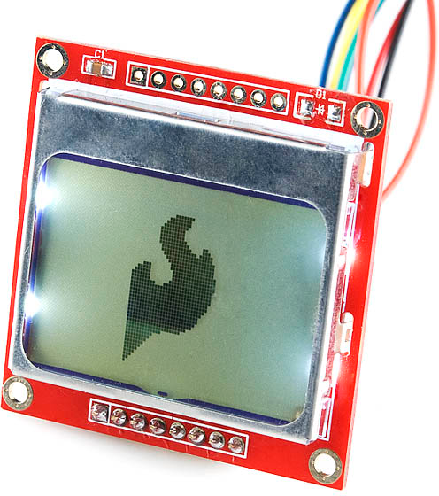 Graphic LCD Lit Up