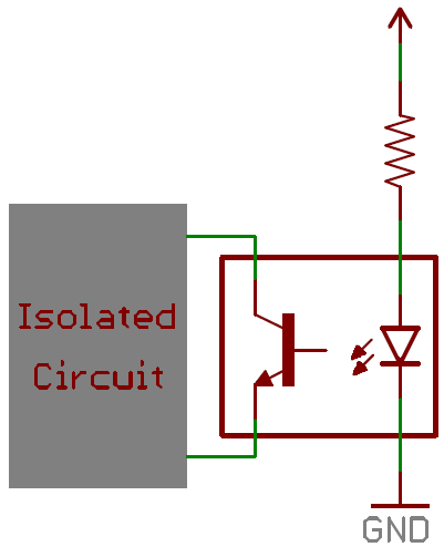 LED in an opto-isolator circuit