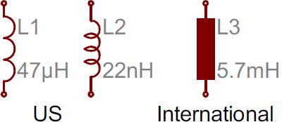Inductor symbols