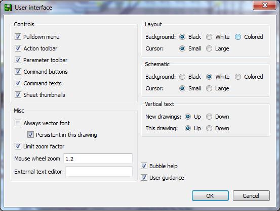 Adjusting the user interface