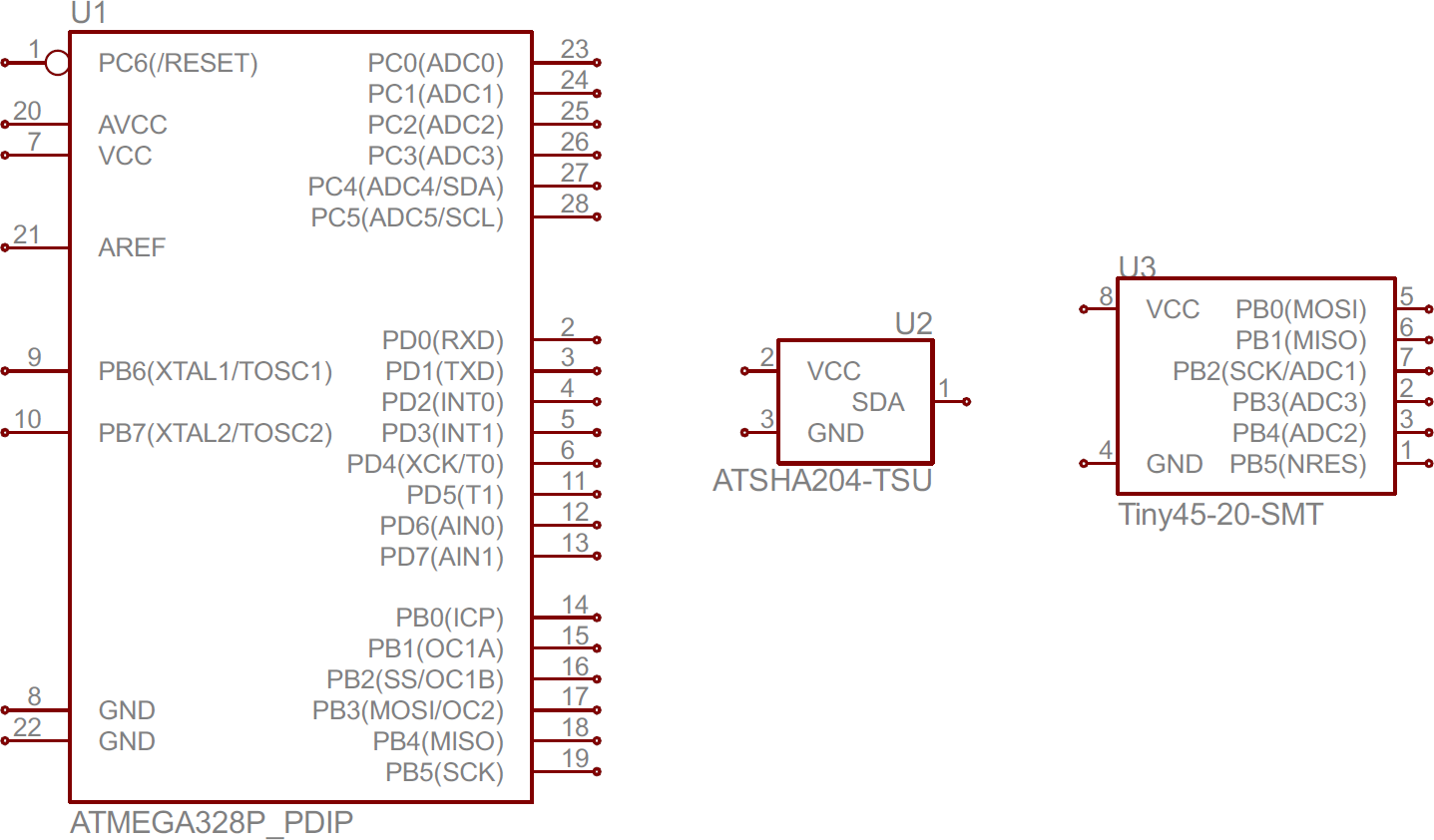 Schematic symbols part 2 linksprite learning center atmega328 atsha204 and attiny45 ic symbols schematic ccuart Choice Image