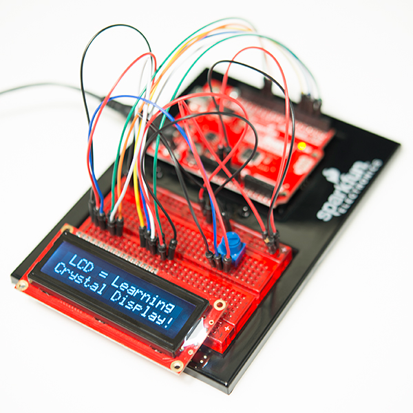 RedBoard connected to LCD