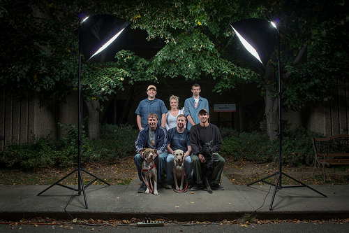 The Night Crew: six humans and three dogs (October 9, 2013)