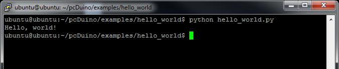 Hello world Python output
