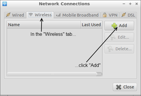 Adding a wireless connection