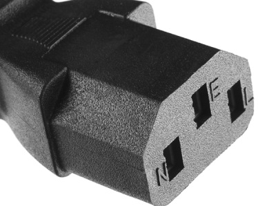 C13 female IEC power connector