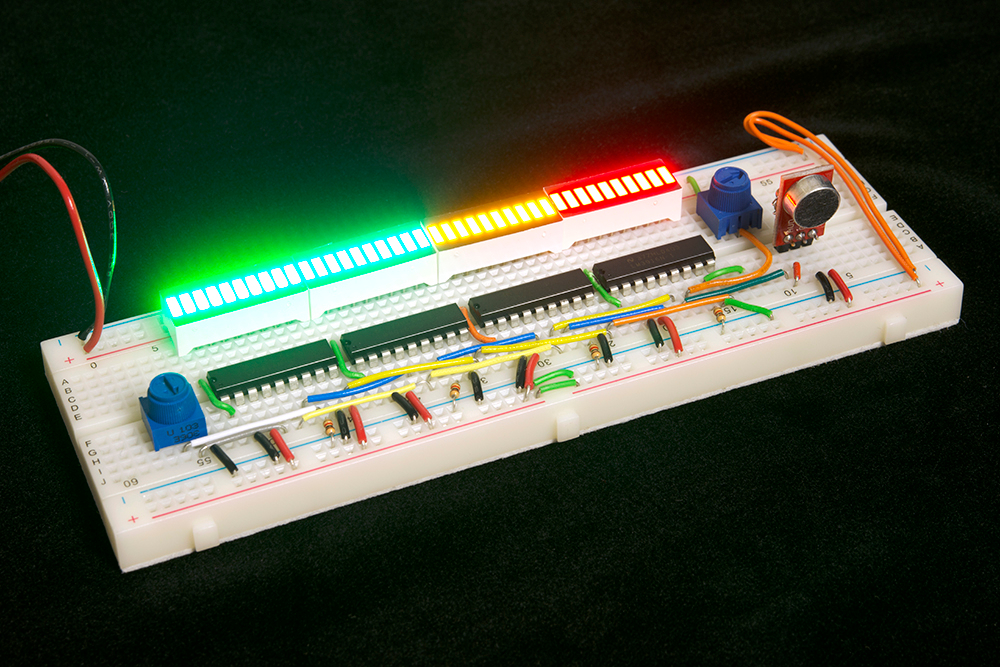 The 10segment Led Bar Graph Circuit We Will Build To Be Controlled