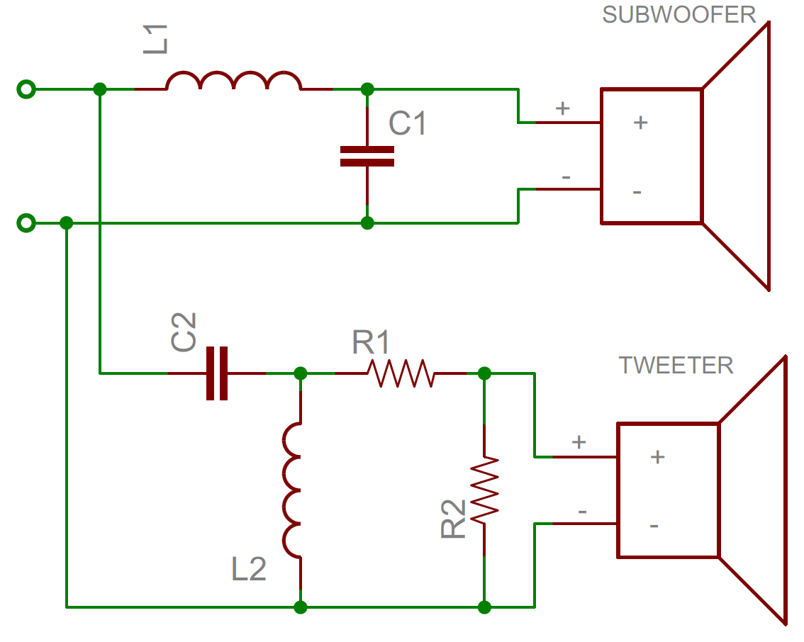 4 way crossover schematic crossover circuit diagram
