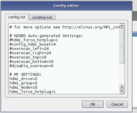 Config editor
