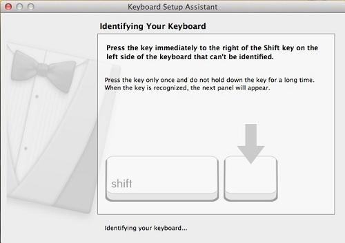 Second Keyboard Setup Assistant screenshot