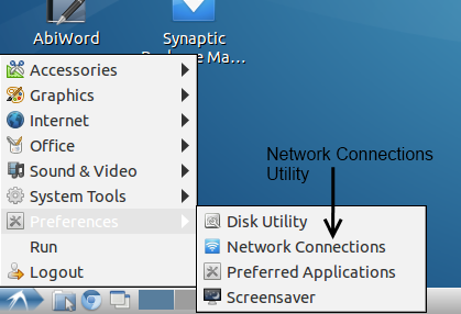"Finding the ""Network Connections"" utility"