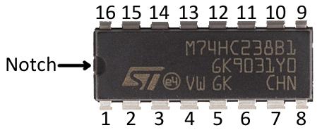 DIP pin numbering