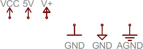 Voltage node symbols