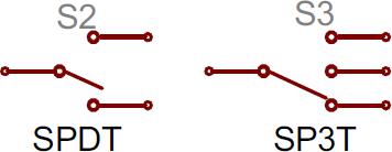 SPDT and SP3T symbols
