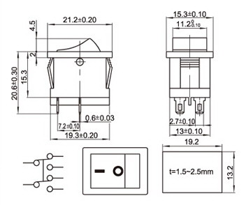 Single Pole Double Throw Switch Diagram