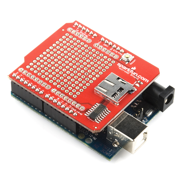 Sparkfun microsd shield dev electronics
