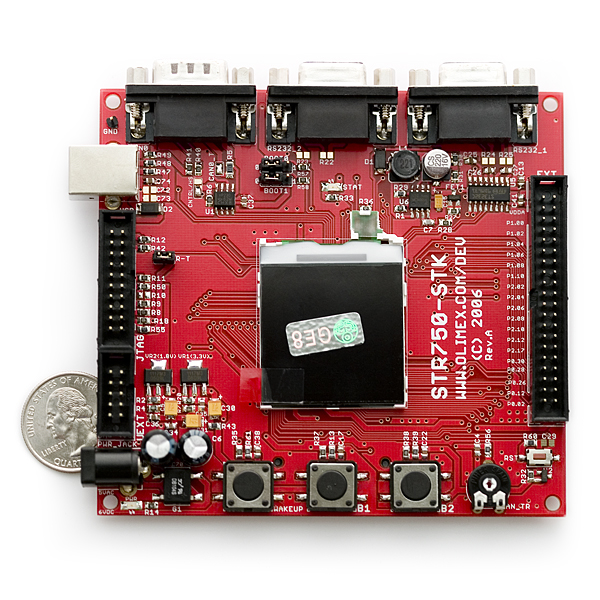 Spiffy image of Dev Board STR750 ARM