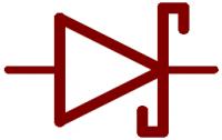 Schottky diode circuit symbol