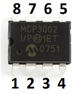 MCP3002 pin-numbering