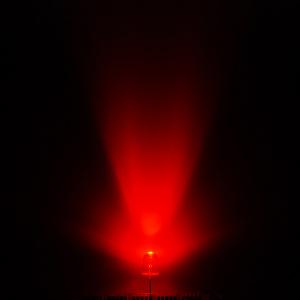 Red LED lit up