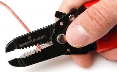 Crimping a wire