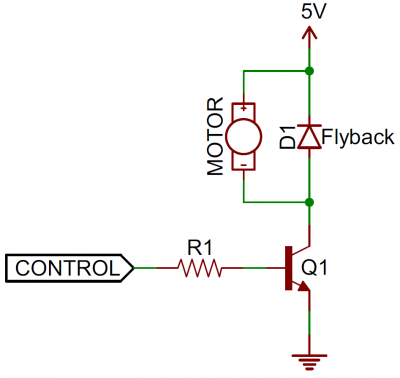 Flyback diode circuit