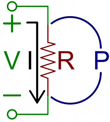 Power across a resistor example circuit