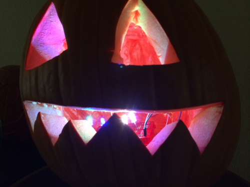 Cycling Color LEDs in Jack-o-Lantern