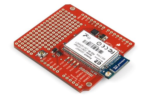 This hookup guide will show you how get started, how to configure the WiFly  module, and how to set up some simple sketches using the WiFly Shield.