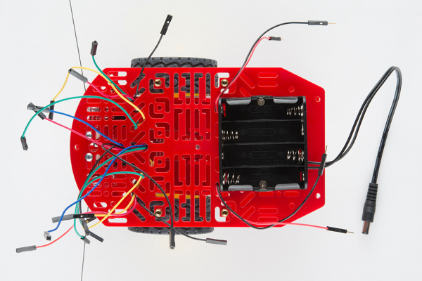 Jumper wires through top chassis