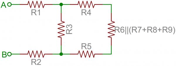 Resistor network simplified