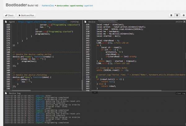 Output log in Imp IDE