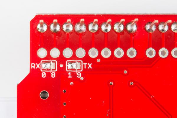 Pads soldered together