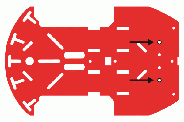 Bottom chassis graphic for ball caster