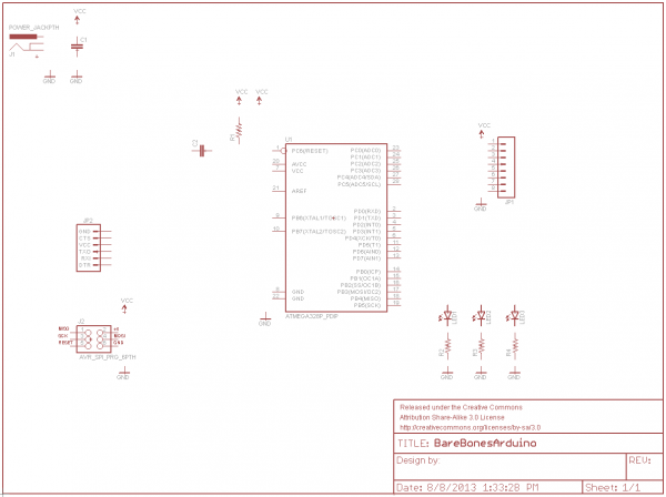 Schematic with all parts added