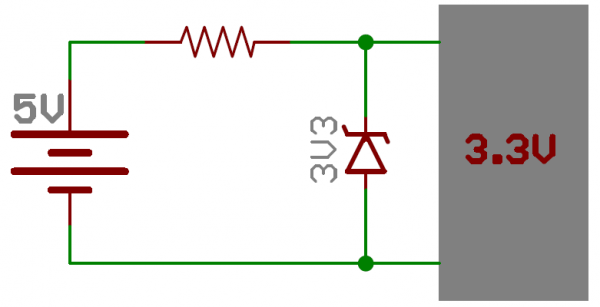 Zener 3.3V reference circuit