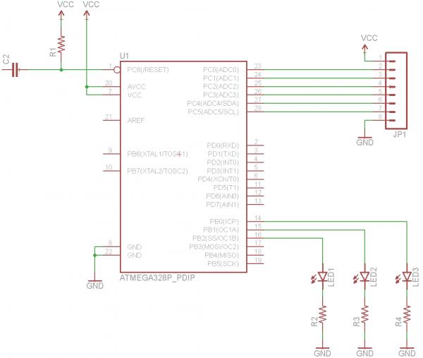 Wiring the ATmega circuit