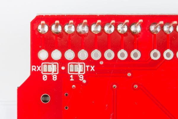 Cut solder pads
