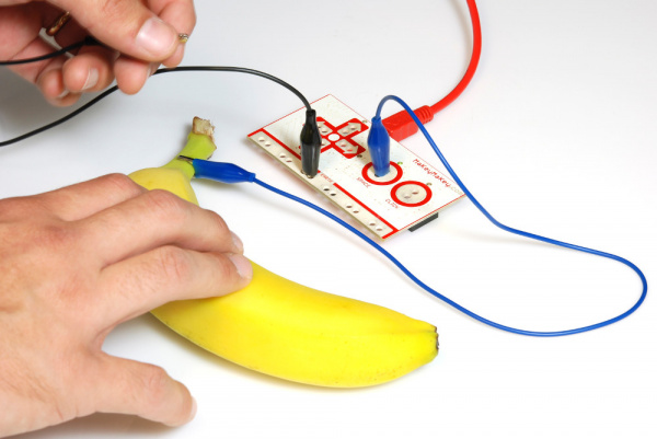 Pressing the banana key
