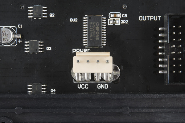 Panel power connector