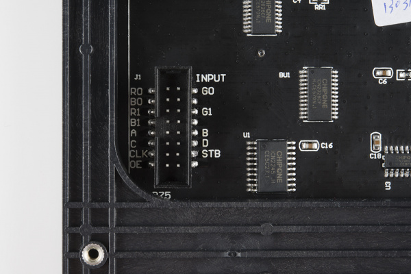 Connector labels on panel