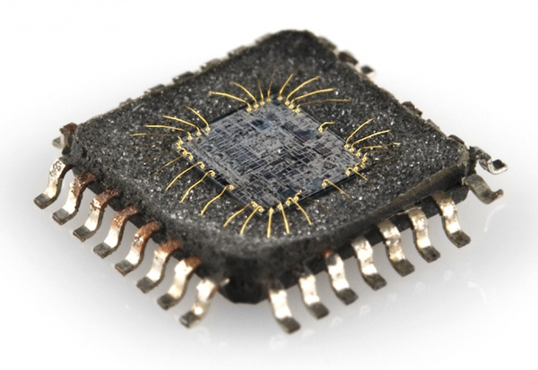 Internal view of an IC