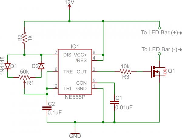 555 Dimmer circuit