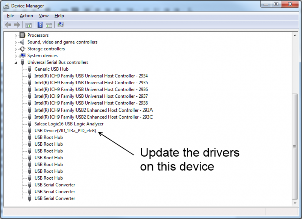 Device manager for Windows 7
