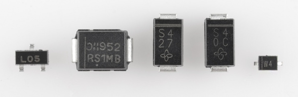 Some SMD diodes